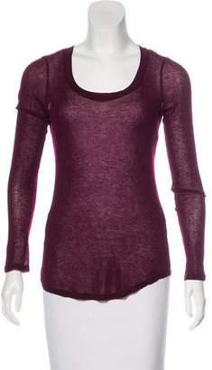 Etoile Isabel Marant Long Sleeve Scoop Neck Top