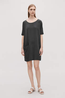 Cos SILK DRESS WITH FRONT POCKET