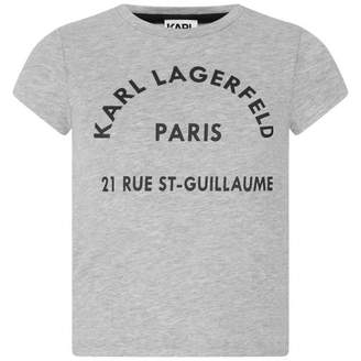 Karl Lagerfeld LagerfeldGirls Grey Paris Jersey Top
