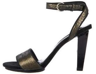 Diane von Furstenberg Metallic Suede Sandals
