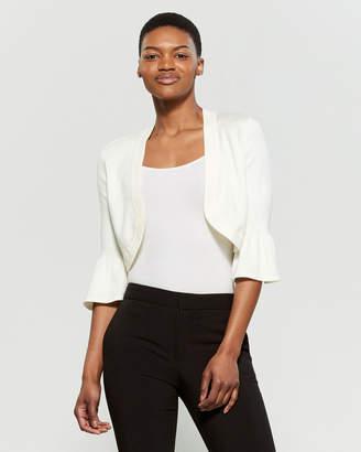 Eliza J Ivory Bell Sleeve Shrug Sweater