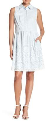 Sandra Darren Sleeveless Lace Dress