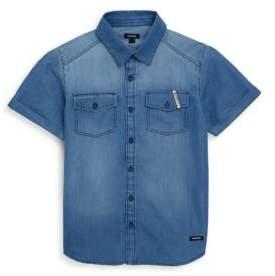 Little Boy's & Boy's Denim Button-Front Shirt