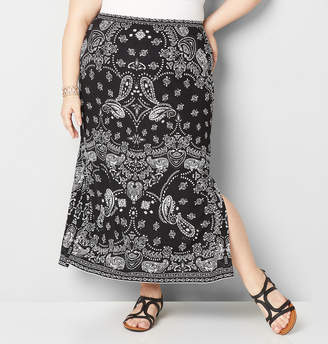 Avenue Bandana Puff Print Skirt