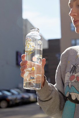 Urban Outfitters Printed Glass Water Bottle
