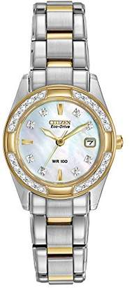 Citizen Women's Eco-Drive Diamond-Accented Watch with Date