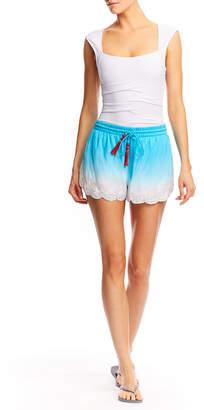 Nicole Miller Ombre Embellished Tassle Shorts