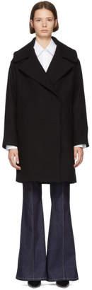 Stella McCartney Black Oversized Wool Coat