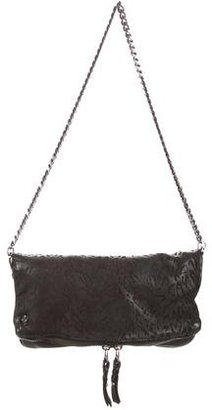 Zadig & Voltaire Printed Fold-Over Shoulder Bag $95 thestylecure.com