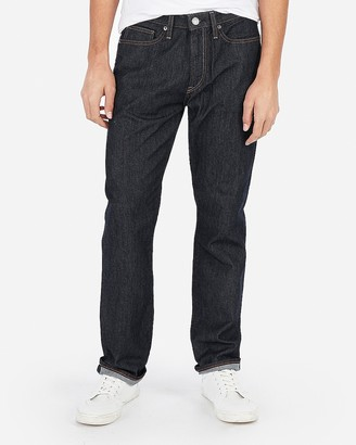 Express Relaxed Stretch Thick Stitch Dark Wash Jeans