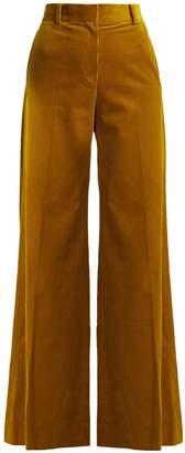 Bella Freud Bianca wide-leg cotton-corduroy trousers