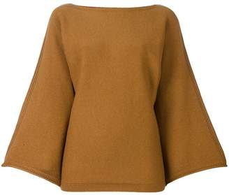 Sonia Rykiel cashmere bell longsleeves knitted blouse