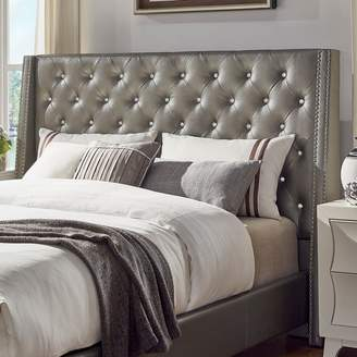 Homevance HomeVance Violette Crystal Tufted Wingback Headboard
