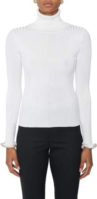 Alexander Wang Turtleneck With Crystal Cuffs