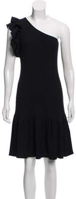 Rebecca Taylor Rib Knit One Shoulder Dress
