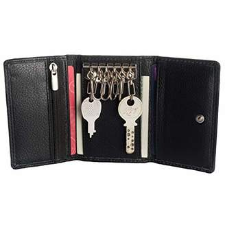 Smart Trifold multi utility wallet with 6 key ring hooks