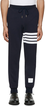 Thom Browne Navy Classic Lounge Pants $590 thestylecure.com