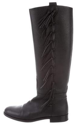 Valentino Leather Knee-Length Boots