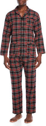 Bottoms Out Two-Piece Red & Black Pajama Shirt & Pant Set