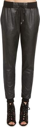 Willow & Clay Faux Leather Jogger Pants