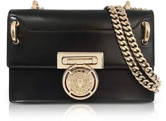 Balmain Glossy Black Leather BBox 20 Flap Bag