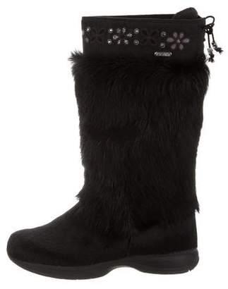 Tecnica Ponyhair Knee-High Boots