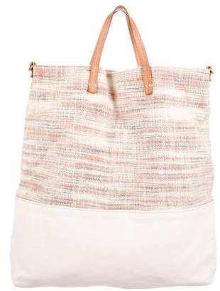 Clare Vivier Leather-Trimmed Canvas Tote