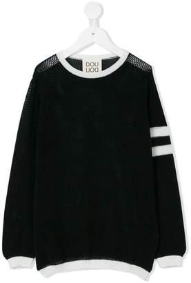 Douuod Kids stripe detail jumper