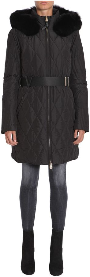 VersaceLong Stitched Down Jacket