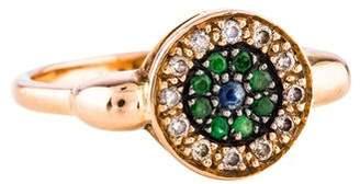 Ileana Makri Diamond, Sapphire & Tsavorite Evil Eye Ring