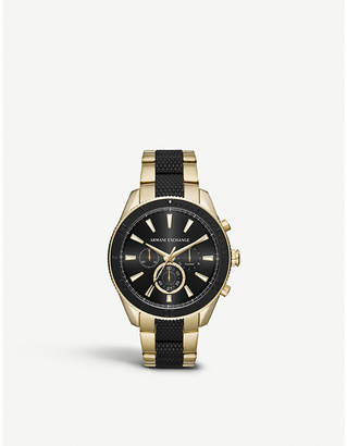 Michael Kors AX1814 gold-plated chronograph watch