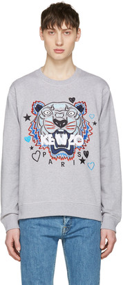 Kenzo Grey Valentines Tiger Pullover $270 thestylecure.com