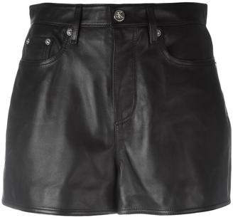 Calvin Klein Jeans mini leather skirt $430.61 thestylecure.com