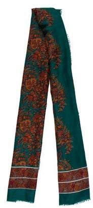 Saint Laurent Wool & Silk Scarf