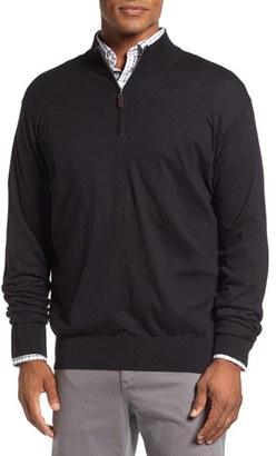 Men's Peter Millar Crown Quarter Zip Sweater $145 thestylecure.com