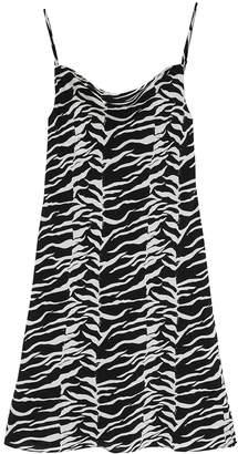 Rixo Twiggy Tiger-print Silk Dress