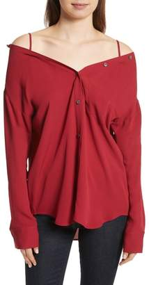 Theory Tamalee Silk Shirt