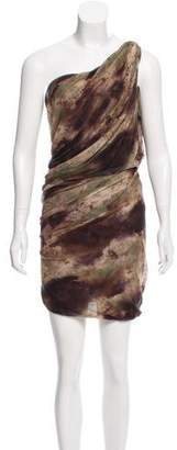 Yigal Azrouel Printed One-Shoulder Dress