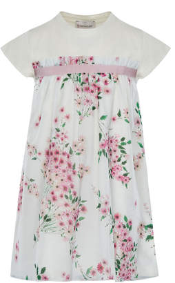 Moncler Mini Me Floral Woven & Jersey Dress, Size 8-14