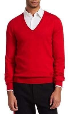 Alexander McQueen Silk& Cashmere V-Neck Sweater