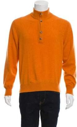 Brunello Cucinelli Cashmere Henley Sweater