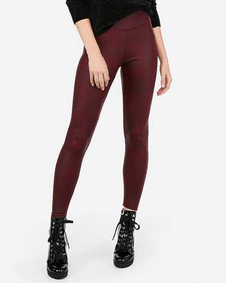Express High Waisted Snake Print Stretch Leggings
