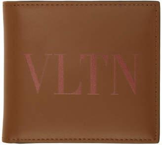 Valentino Brown Garavani VLTN Bifold Wallet