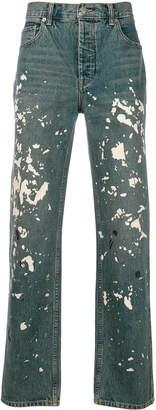 Helmut Lang paint splatter jeans