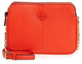 Tory Burch Ivy Leather Crossbody Bag - Red $375 thestylecure.com