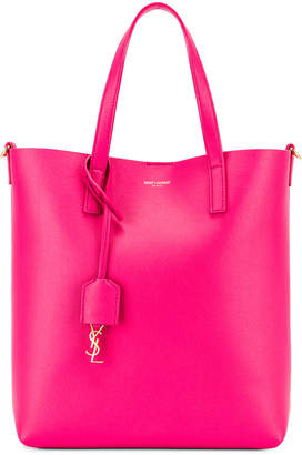 Saint Laurent Toy North South Tote Bag in Fresh Fuchsia | FWRD
