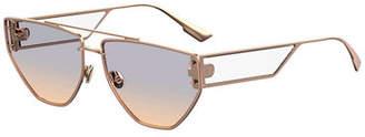 Christian Dior DiorClan2 Metal Rectangle Sunglasses