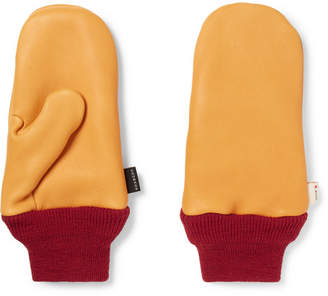 Best Made Company - Wool-Trimmed Leather Chopper Mittens