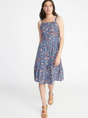Old Navy Floral Apron-Front Fit & Flare Dress for Women