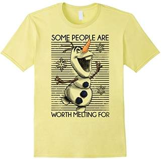 Disney Frozen Olaf Some People Are Worth Melting For T-Shirt